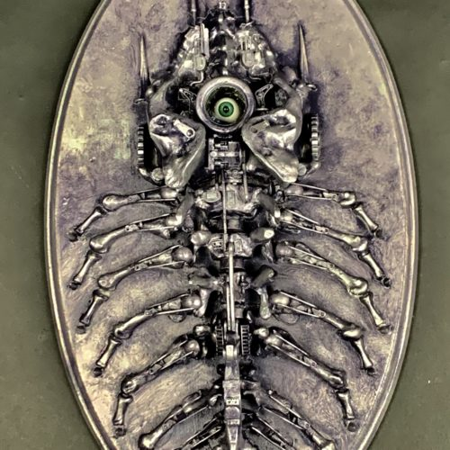 TriloOpticus - Eyesoation - mixed media assemblage sculpture by Jud Turner, copyright 2020