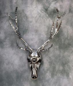 Cernunnos 1 - welded steel sculpture by Jud Turner, copyright 2019